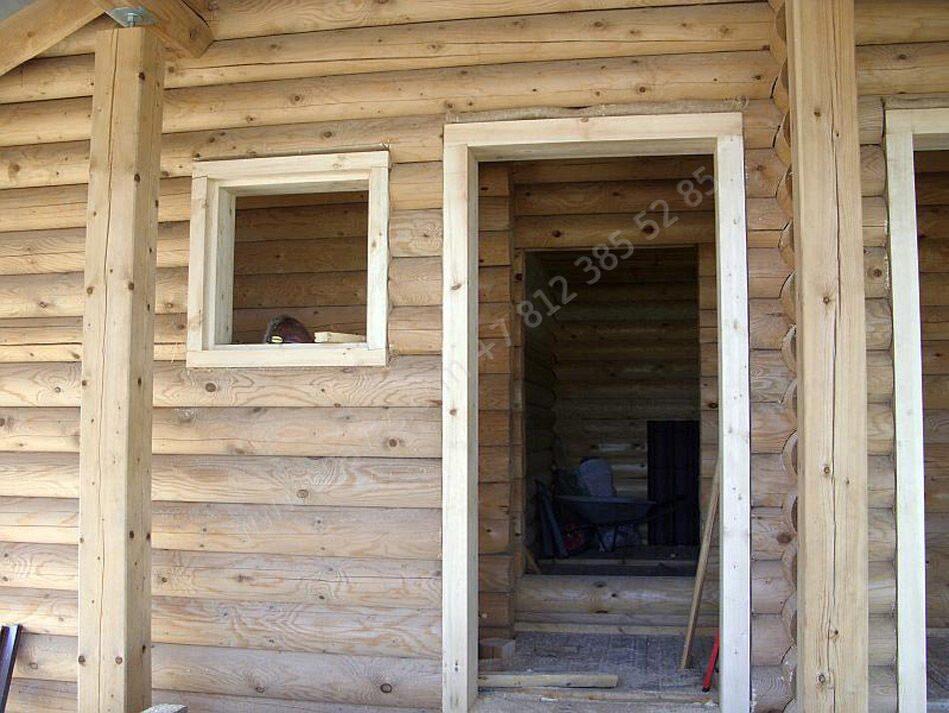 Окосячка окна в деревянном доме видео